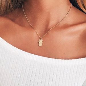 4 for $25 pineapple necklace